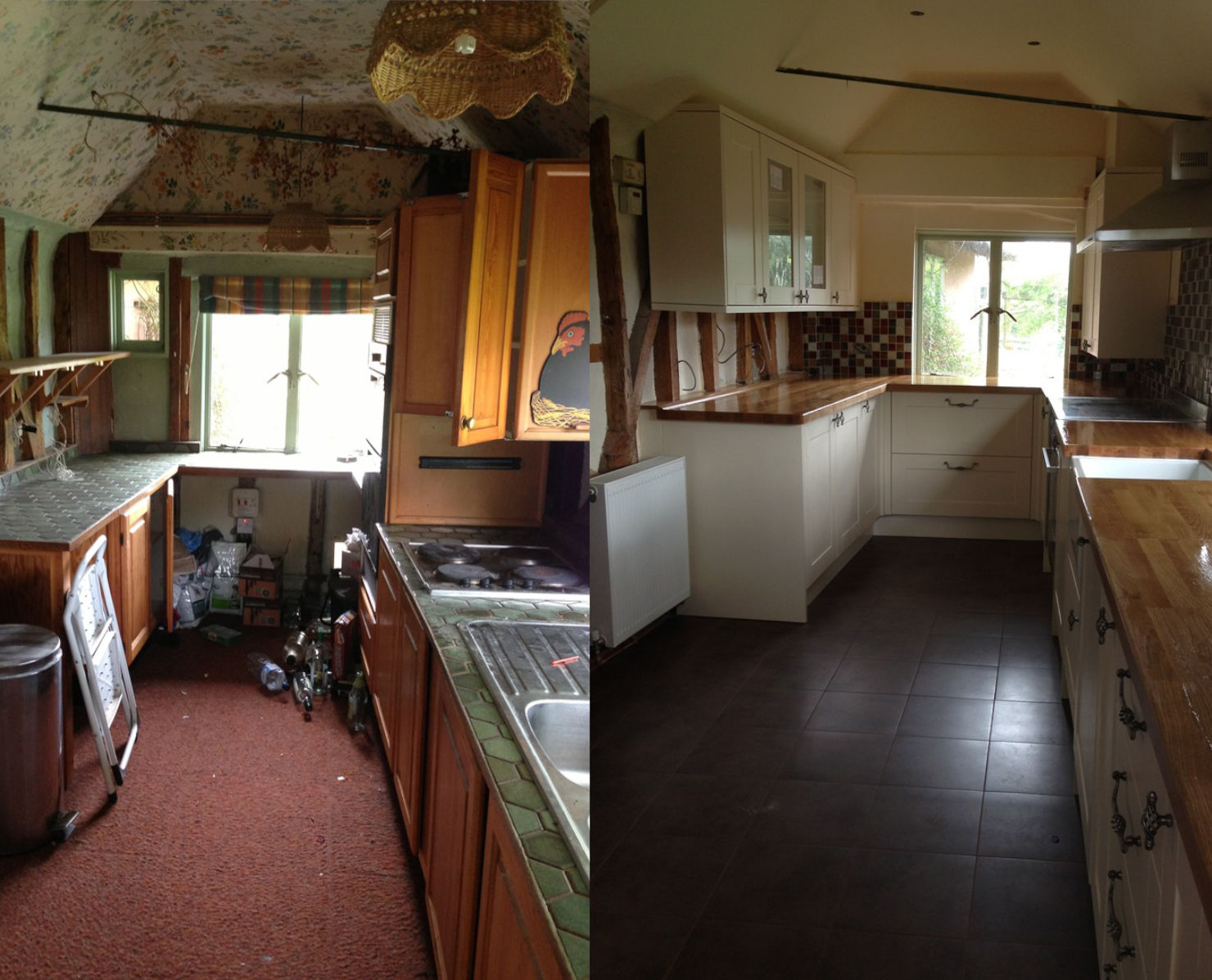 Kitchen fitters in Essex before and after
